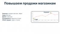 Интернет-магазин обуви (рост объёма продаж в 4 раза)